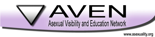 The AVEN triangle sit on the left of the words